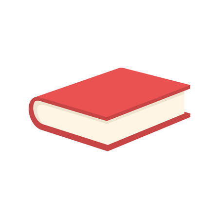 red book: Red Book, modern flat icon