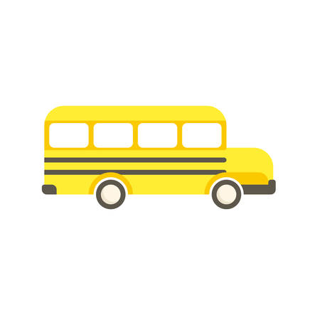 schoolbus: School Bus, modern flat icon