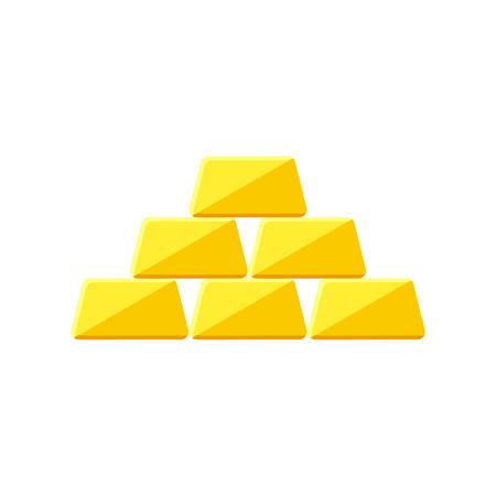 ingots: Golden icon icon(flat design) Illustration