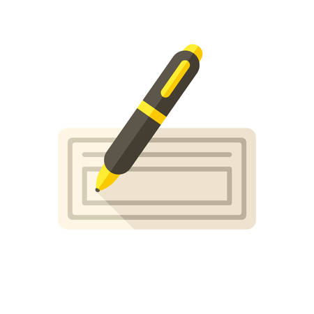 check symbol: Bank check icon (flat design)