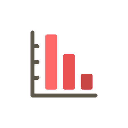 graph down: Graph Down icon(flat design)