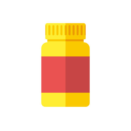 supplements: Medical bottle, modern flat icon
