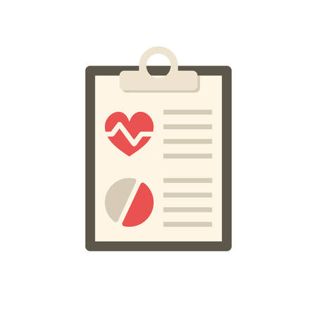 medical report: Medical report, modern flat icon