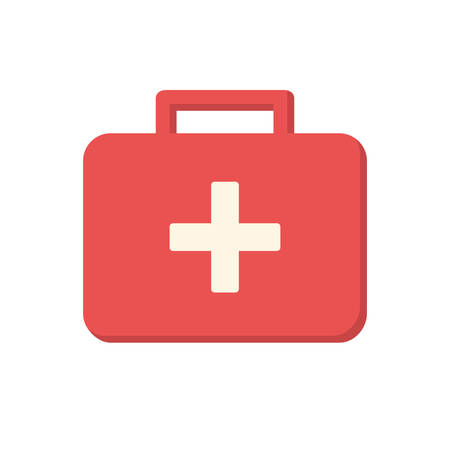 first aid kit: Medical box, modern flat icon