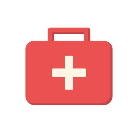 medical box: Medical box, modern flat icon