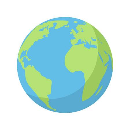 Pianeta Terra, icona piatto moderno Vettoriali