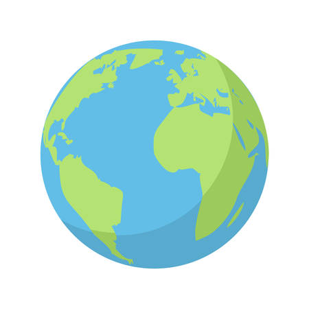 Planeta Tierra, icono plana moderna Foto de archivo - 35165214