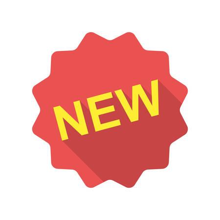 novelty: New icon (flat design) Illustration