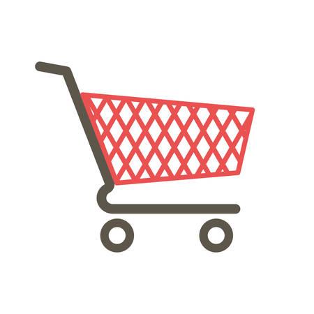 Shopping cart icon (flat design)  イラスト・ベクター素材