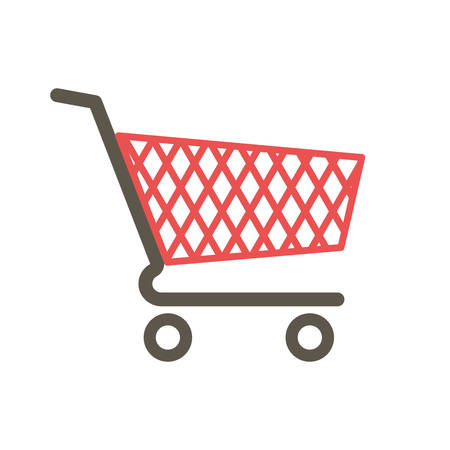 Shopping cart icon (flat design) Illustration