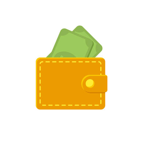 Wallet icon (flat design)