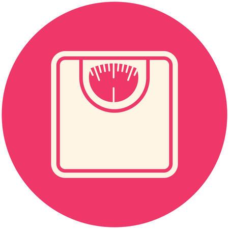 bathroom scale: Bathroom scale, modern flat icon