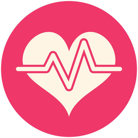 Heart rate, modern flat icon Vector