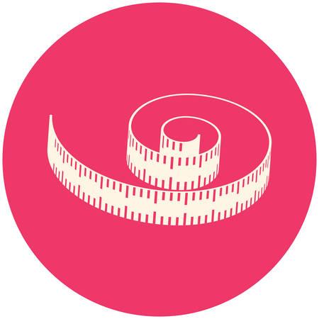 measuring tape: Measuring tape, modern flat icon