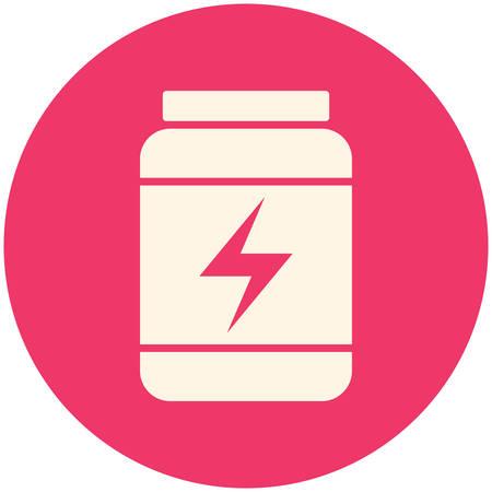 gainer: Sport Nutrition, modern flat icon