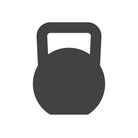 kettles: Kettlebell, icono plana moderna