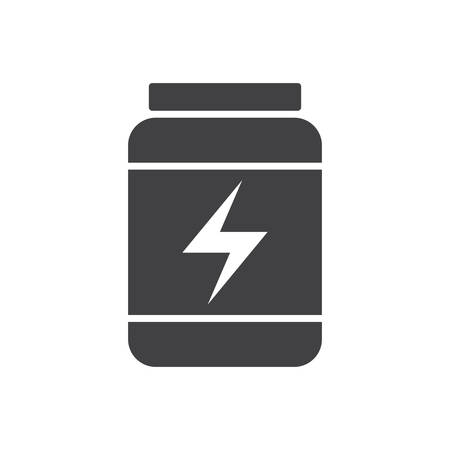 supplements: Sport Nutrition, modern flat icon