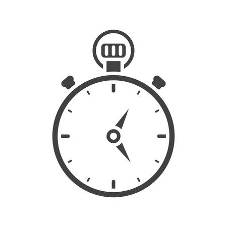 Cronómetro, icono plana moderna