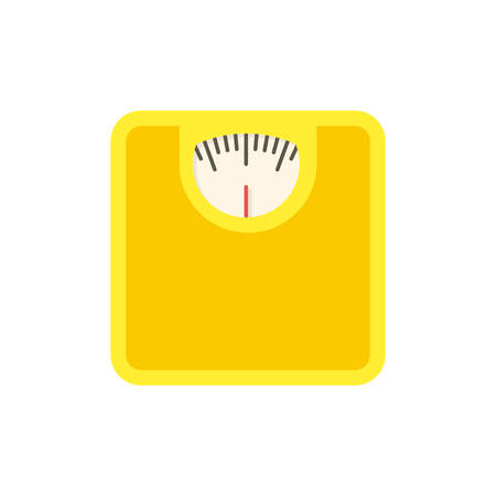 Bathroom scale, modern flat icon with long shadow Vector