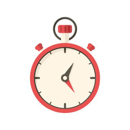 cronometro: El s�mbolo de cron�metro plana, moderna con una larga sombra Vectores
