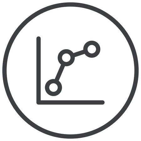 keyword: Keyword rankings, line chart, modern vector icon
