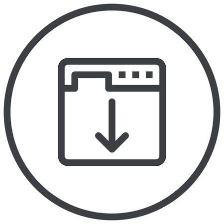 optimisation: Landing Page Optimization, web browser displays a web page modern icon