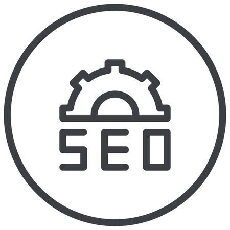 optimize: Search Engine Optimization, SEO, modern vector icon