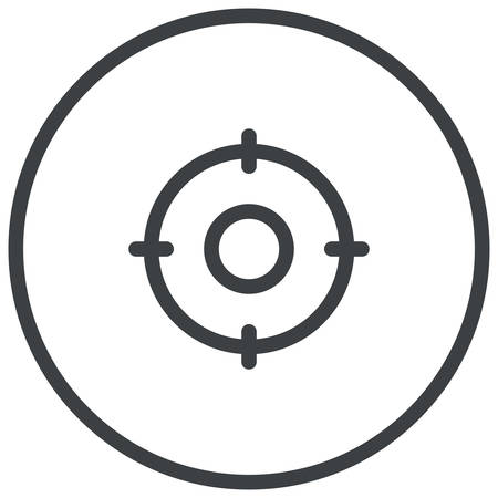 Target Keywords, search engine optimization modern icon Illustration