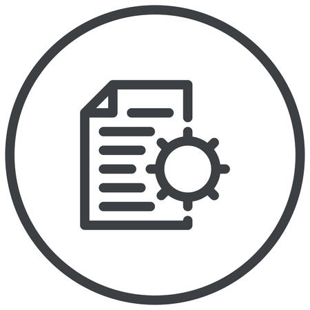 management system: Content Management, document and gear, modern vector icon