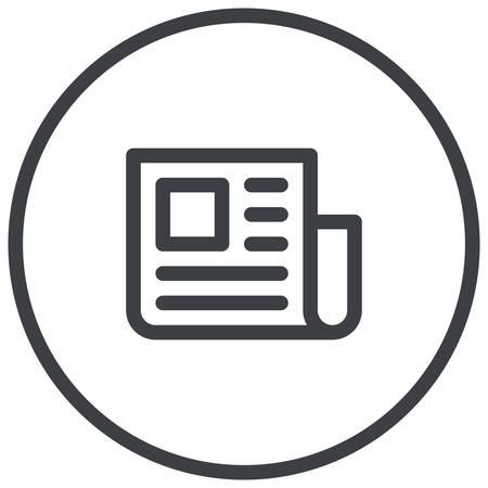 Persbericht, krant illustratie, moderne vector icon Stock Illustratie