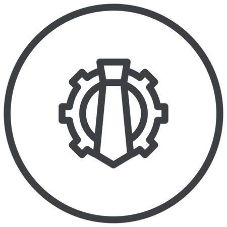 censoring: Reputation Management, Human resource management, Necktie and Cogwheel,  modern vector icon