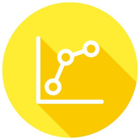 Keyword rankings, line chart, modern vector icon