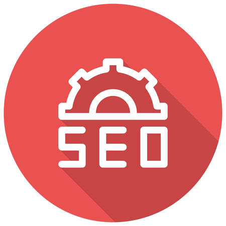 page long: Search Engine Optimization, SEO, modern vector icon