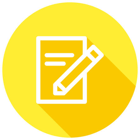 copywriting: SEO Copywriting, Document and pencil, modern vector icon