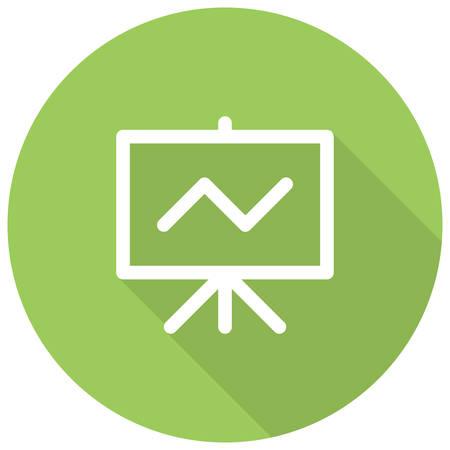 flipchart: Seo Training, Flip chart with line chart, modern vector icon