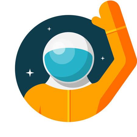 astronaut: Astronaut, Flat design, vector illustration, isolated on white background