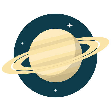 and saturn: Saturn, Flat design, vector illustration, isolated on white background