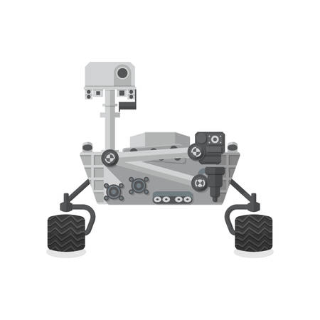 moon rover: Mars Rover, Flat design, vector illustration, isolated on white background Illustration
