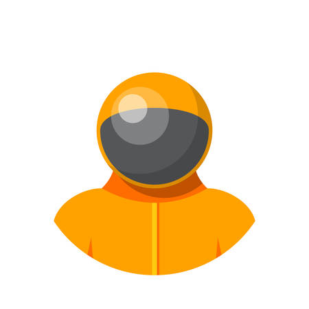 spaceflight: Astronaut, Flat design, vector illustration, isolated on white background