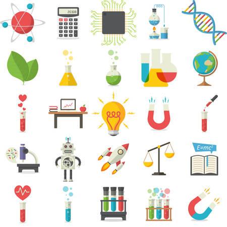 balanza de laboratorio: Ciencia, ilustración vectorial Vectores