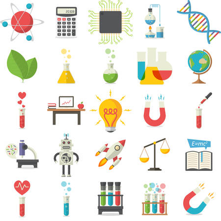 science icons: Science, vector illustration Illustration
