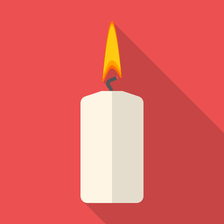 compleanno: Vector illustration of christmas candle