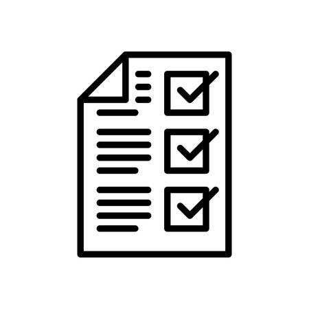 tasks: Completed tasks, vector illustration, outline stroke business icon.