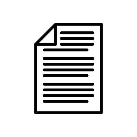 Documento, illustrazione vettoriale, contorno business icon ictus.