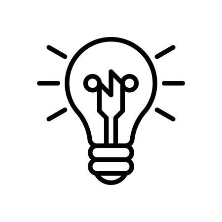 creativity symbol: Smart ideas, vector illustration, outline stroke business icon.