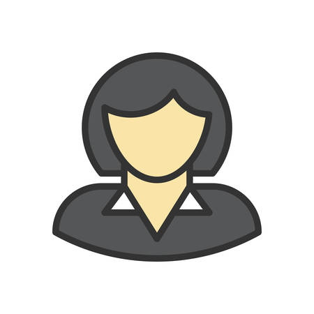 business woman: Business woman, vector illustration, outline stroke business icon. Illustration