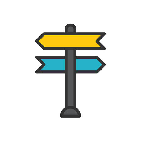 unsure: Decision making, vector illustration, outline stroke business icon.