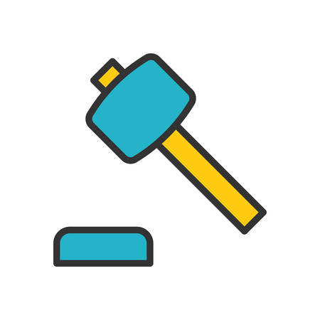 scalable: Auction. Colored scalable vector icon in outline style.