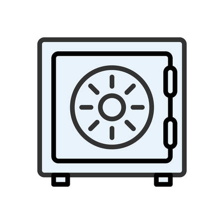 scalable: Safe. Colored scalable vector icon in outline style. Illustration