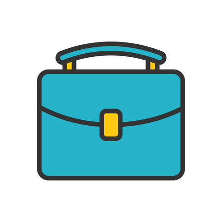 document icon: Briefcase. Colored scalable vector icon in outline style. Illustration